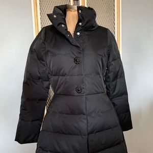 Kate Spade Jewel Button Puffer Down Coat Bow Back